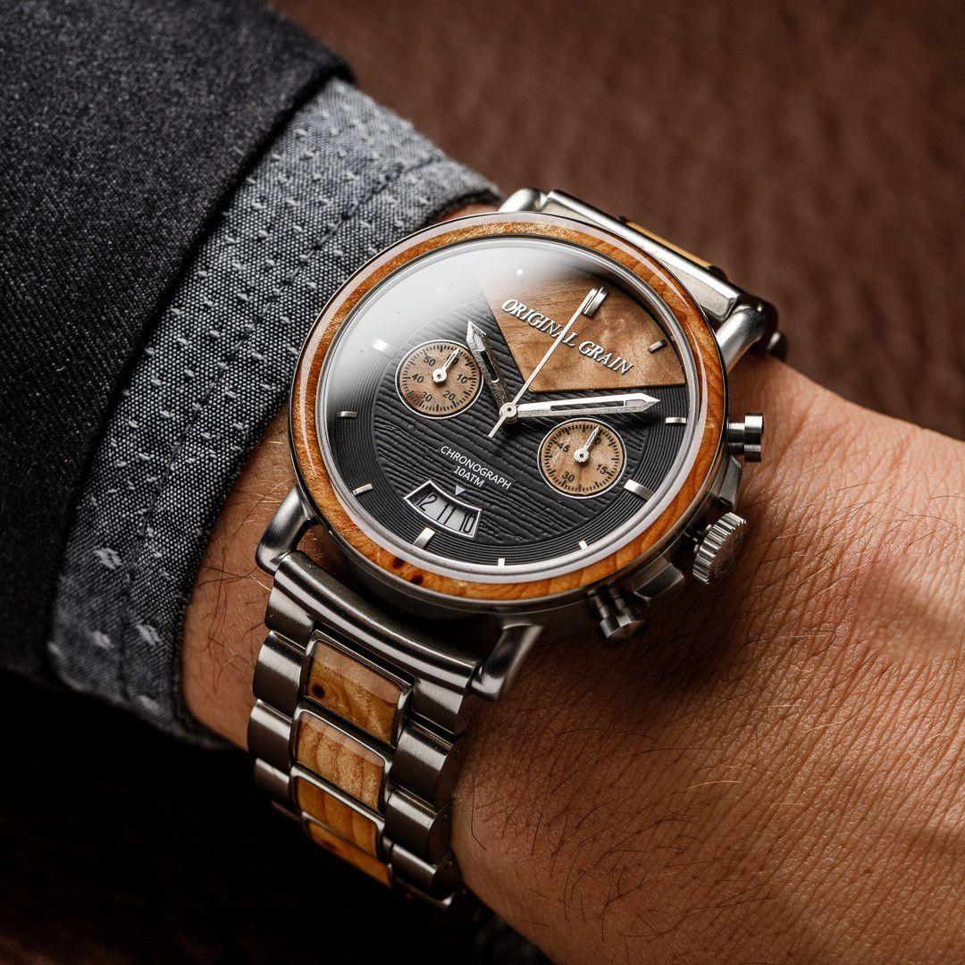 The Marc Chrono 44mm | The Man | Wood grain watch, Fashion ...
