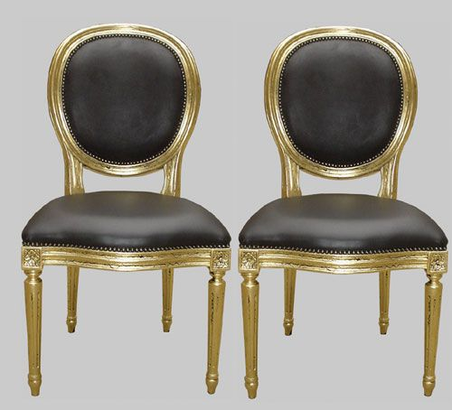 French Round Back Oval Dining Chairs Jimmie Martin Ltd Distressed Gold Leaff On