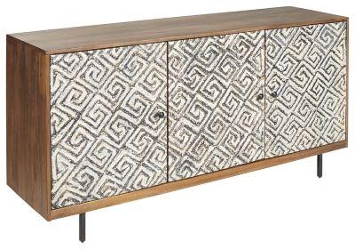 Signature Design Kerrings Accent Cabinet in Brown/
