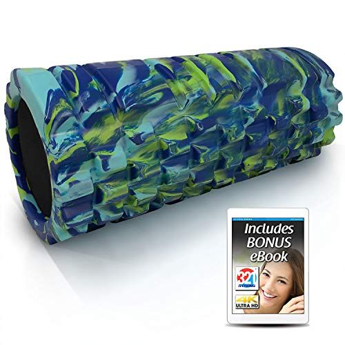 321 STRONG Foam Roller  Medium Density Deep Tissue Massager for Muscle Massage and Myofas