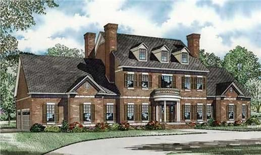 Traditional, Colonial House Plans - Home Design NDG-916 # 19454 ...