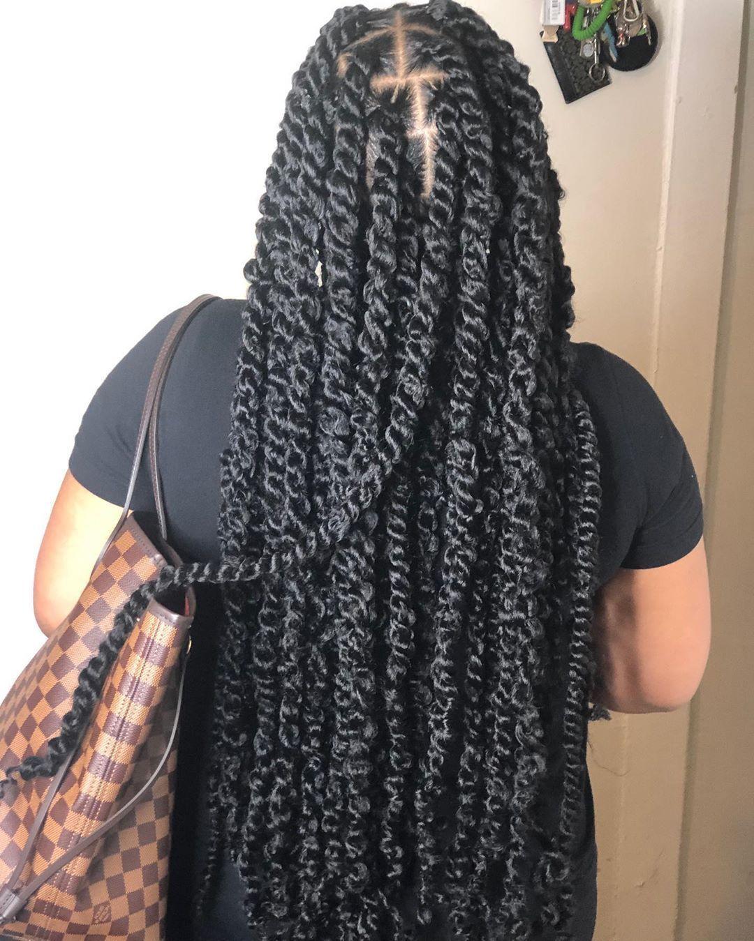 20+ Twist braid hairstyles for black hair trends