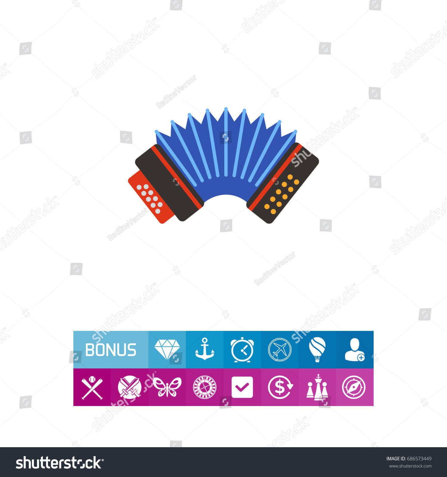 Blue accordion vector icon Sponsored , spon, accordion
