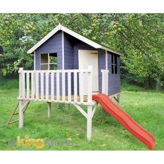 Cabane Enfant bois LOUIS - Achat   Vente MAISON JEUX EXTÉRIEUR - Maisonnette En Bois Avec Bac A Sable
