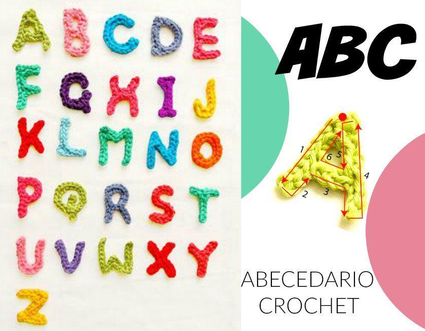 Patron Abecedario crochet LETRAS PLANAS | Abecedario crochet letras ...