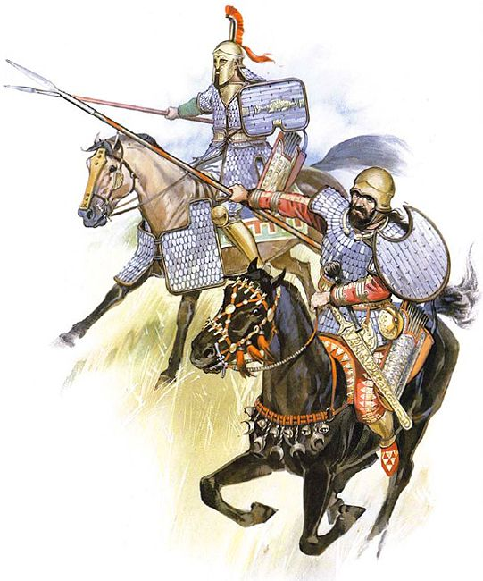 scythian noble and retinue lancers