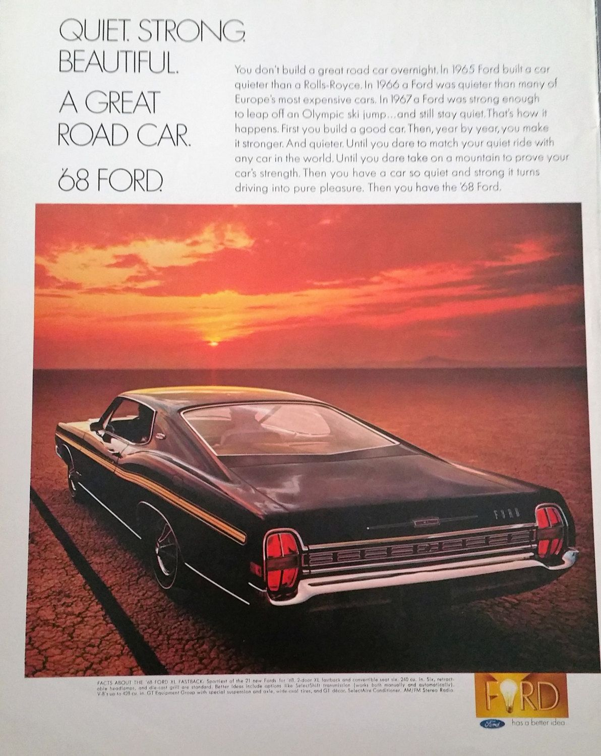 1968 Ford Torino Magazine Advertisement - Ford Ads, Old Car Ads, Print Ads, Vintage Cars, Car Advertising, Vintage Ads, Magazine Ads by Inkart on Etsy