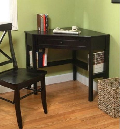 Best Corner Writing Desk Black Cherry Expresso White Kitchen Office Student