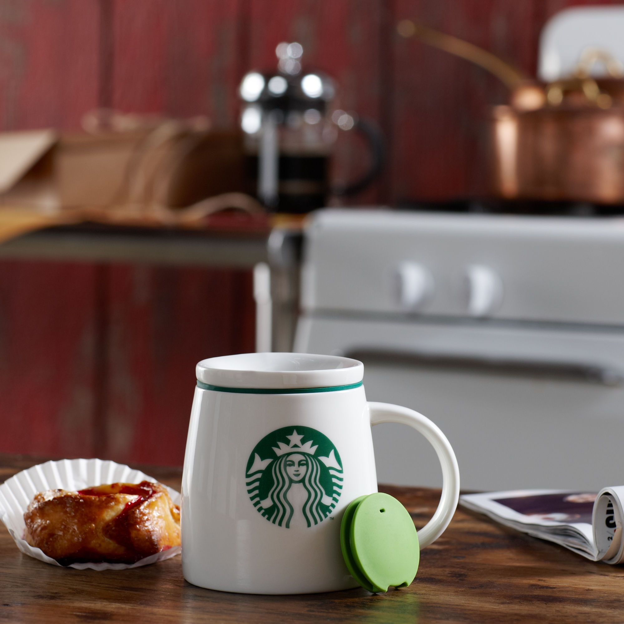 Starbucks® Ceramic Mug with Lid, 14 fl oz. To always keep