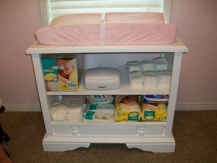 Repurpose Old Console Tv Made Changing Table From Old Console Tv