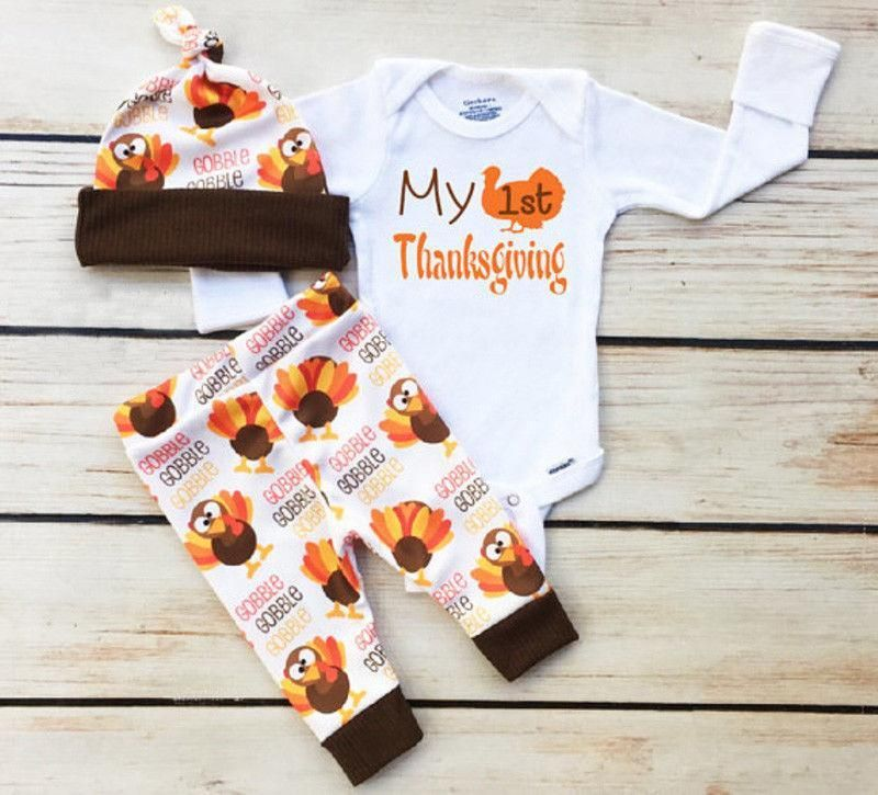 My 1st Thanksgiving 0 3 Months Boy Thanksgiving Outfit Thanksgiving Baby Outfits Thanksgiving Baby