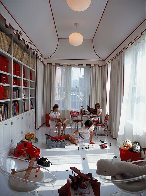 AMAZING Celerie Kemble Playroom  I Want My Playroom To Have 1) Shelving 2)