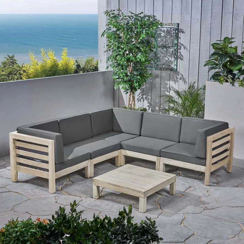 Best Seaham 6 Piece Sectional Seating Group With Cushions With 400 x 300