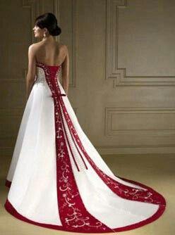 Vestido de novia rojo sueno