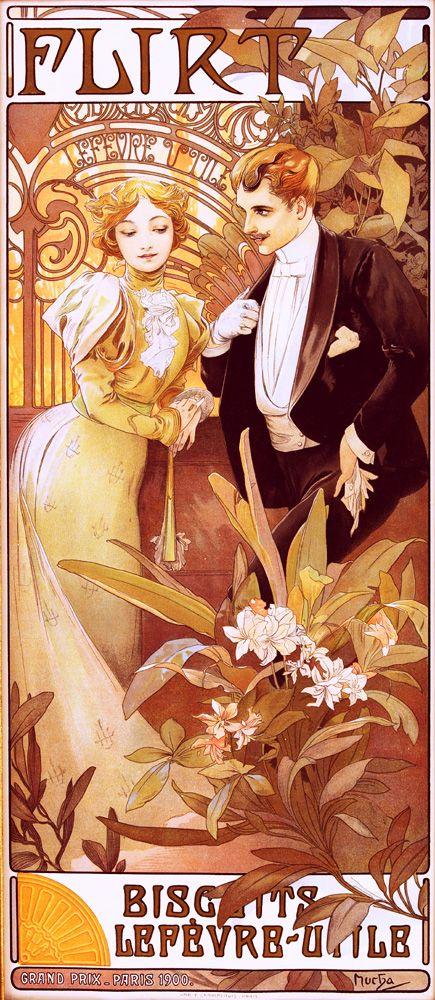 Alfons Mucha For Bisquits Lefevre Art Nouveau Mucha Art Nouveau