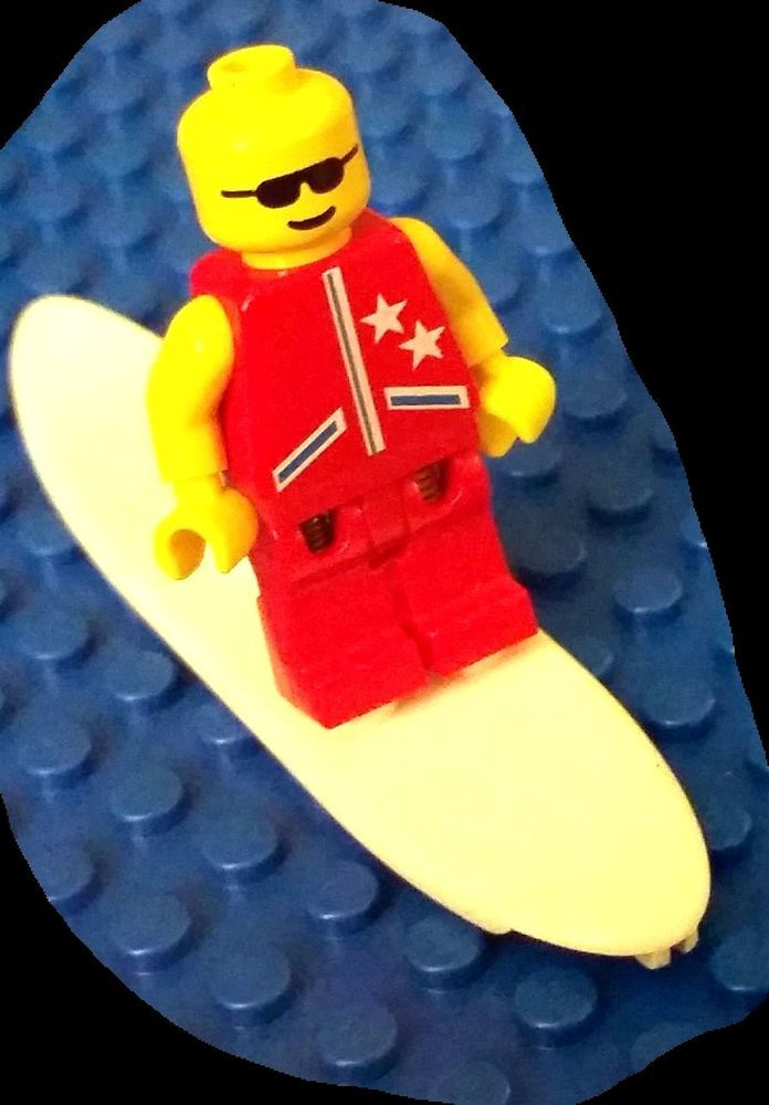 LEGO New City Beach Red Surfboard Surfer Minifigure Accessory