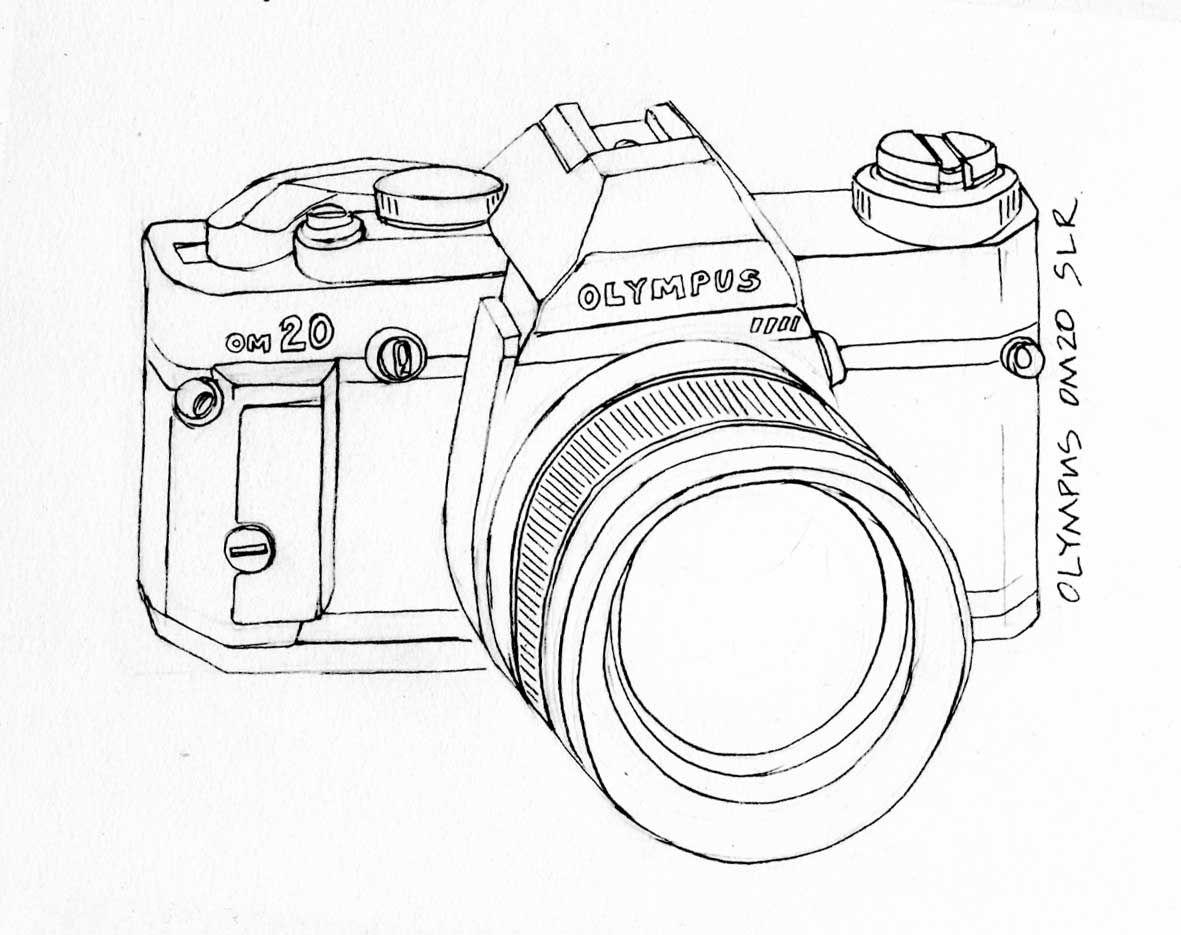 Camera Olympus Om20 Drawing Jpg 1181 935 Camara De Fotos Dibujo Camara De Fotos Materiales Didacticos