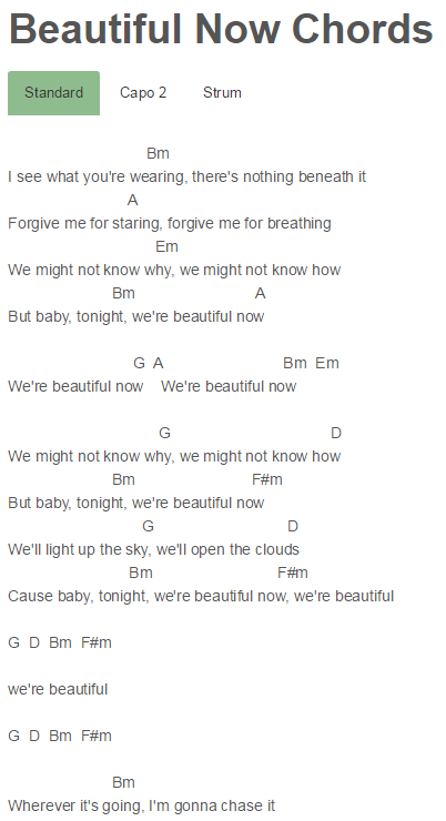Beautiful Now Chords Jon Bellion Zedd Zedd Pinterest Jon