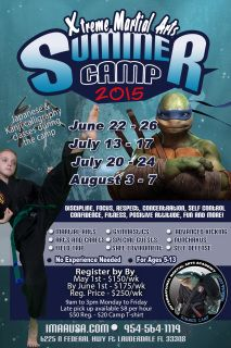 What are you doing during the summer?! Have fun with us! IMAA will be open for our Xtreme Martial Arts Camp!  Martial Arts Combined with Gymnastics. Learn Gymnastics/Tumbling! Advanced Kicking and more!  We will also have other activities outside of Martial Arts! Beginner are welcome!  Staying home during the summer is no fun! Come to our Martial Arts Camp and you'll have an unforgettable experience. Parents can feel at ease knowing that their children are in a safe and fun environment while…