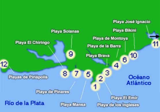 Map Of Uruguay Beaches South America Travel Uruguay Uruguay Tourism
