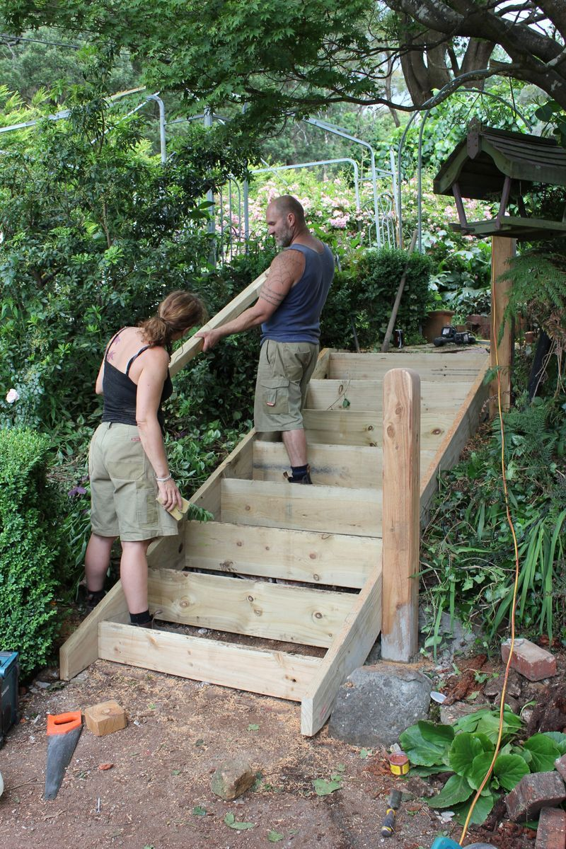 Making Garden Steps
