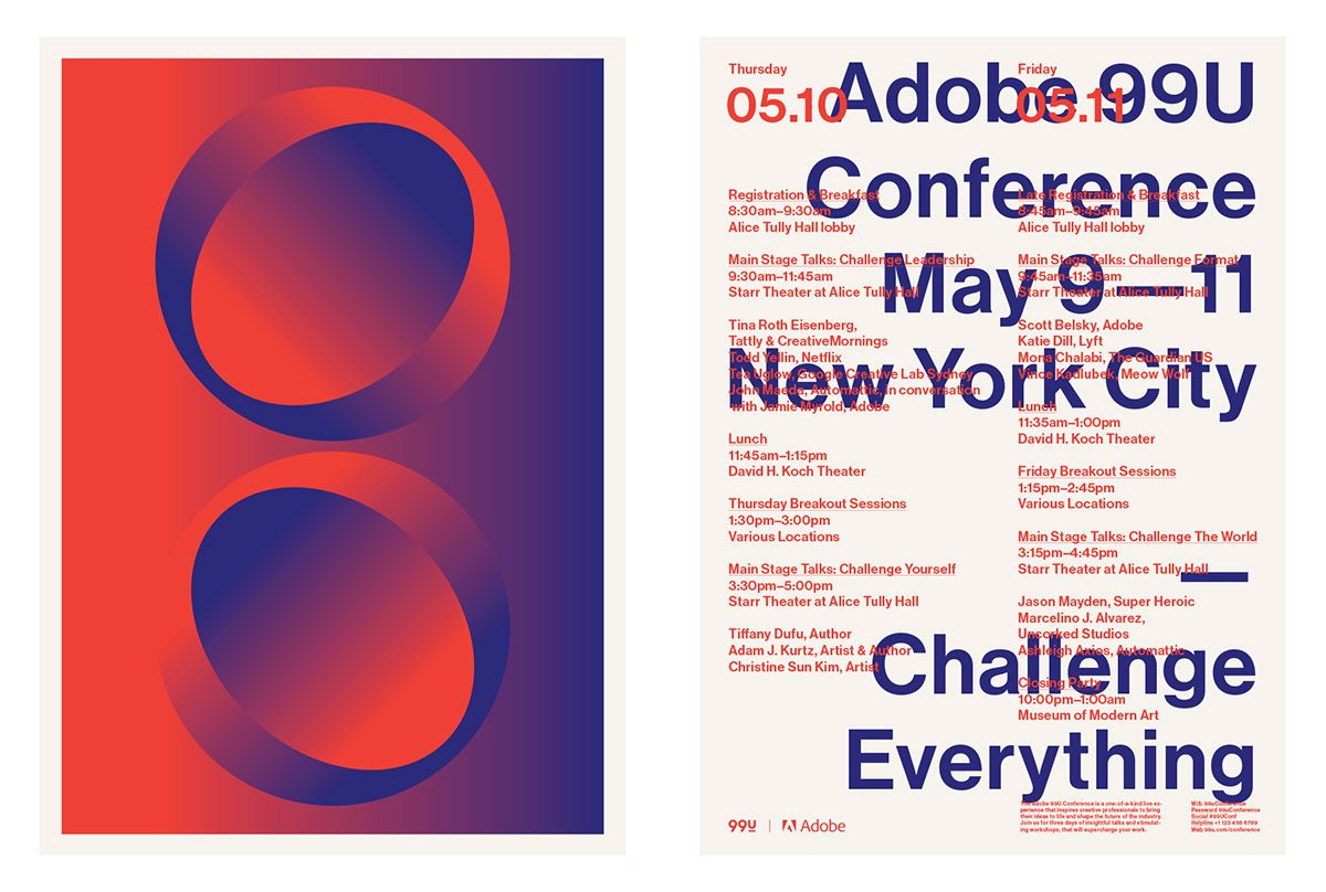 10th Annual 99u Conference New York City 2018 On Behance Haise The Wonders