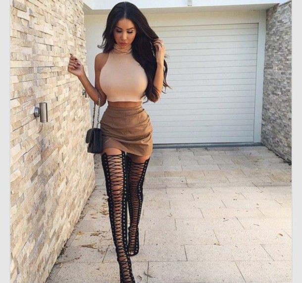 open toe lace up over the knee boots - Google Search | boots ...