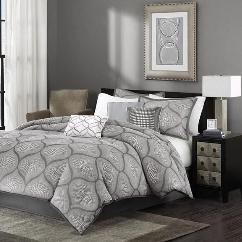 amara grey king comforter set