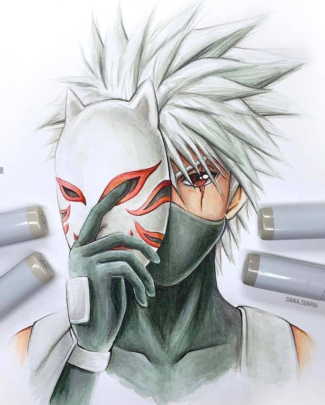Pin By Samuel Carrero On Risunki In 2020 Kakashi Drawing Kakashi Hatake Naruto Drawings