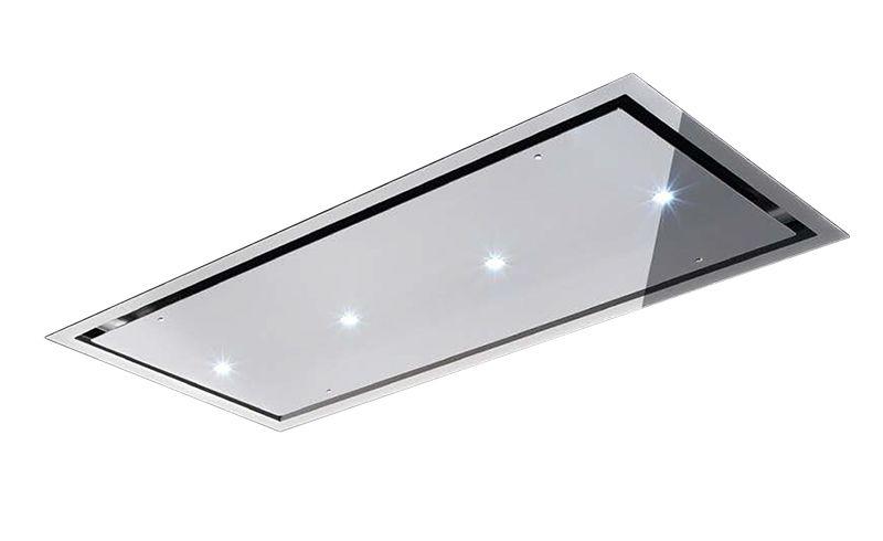 AIRONE hotte au plafond OTELLO INOX (120 cm - Acier Inox - hotte de cuisine  cm