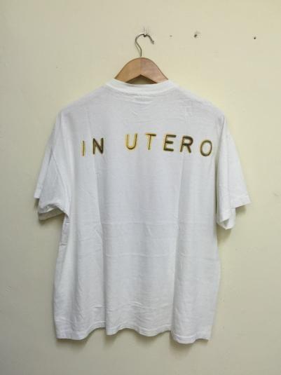 5f3f4d855 90s Nirvana In Utero Tshirt | Band t shirts in 2019 | T shirt ...