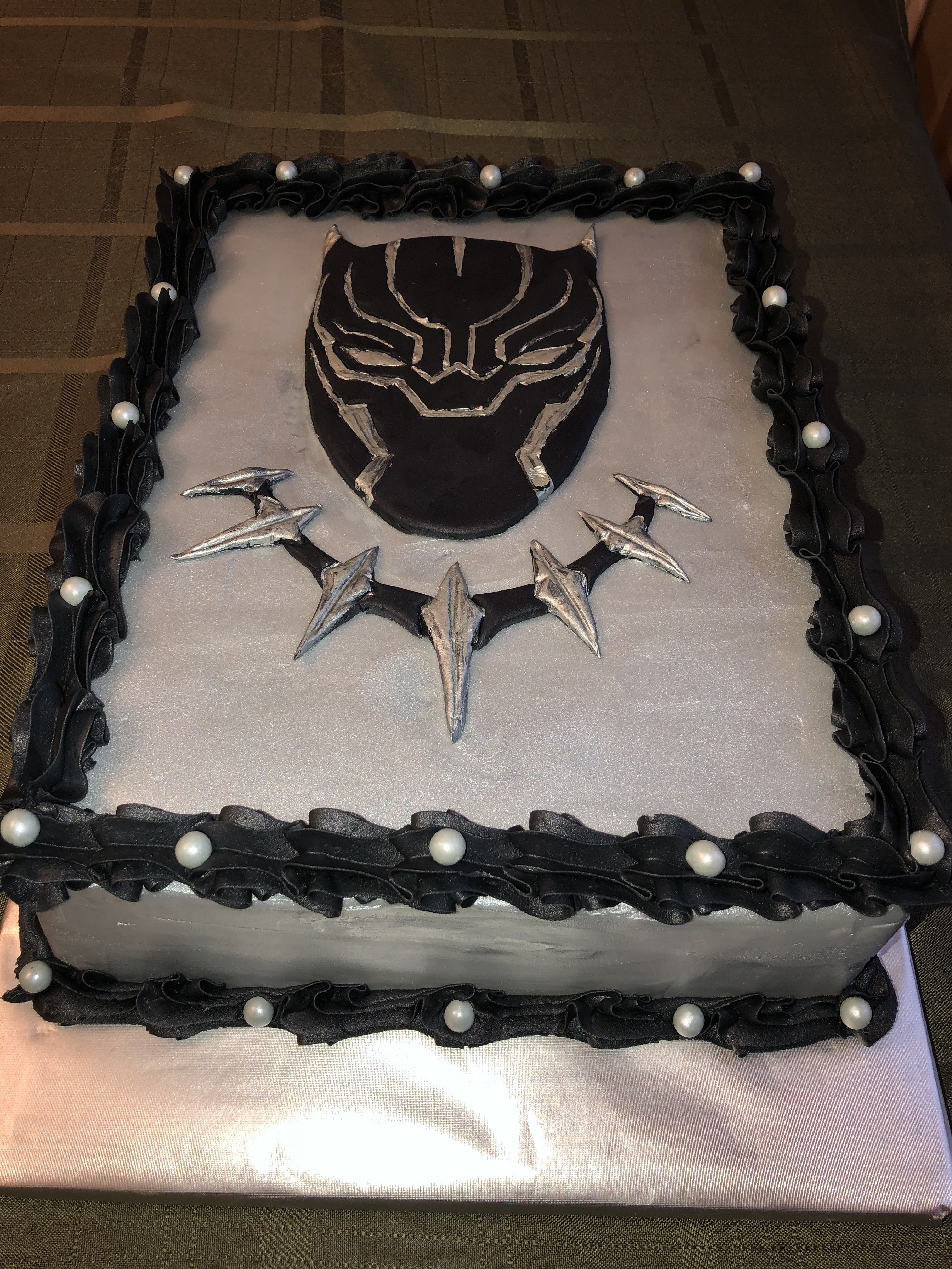 BLACK PANTHER Cake topper Personalized Birthday 1//4 Sheet  Edible Image
