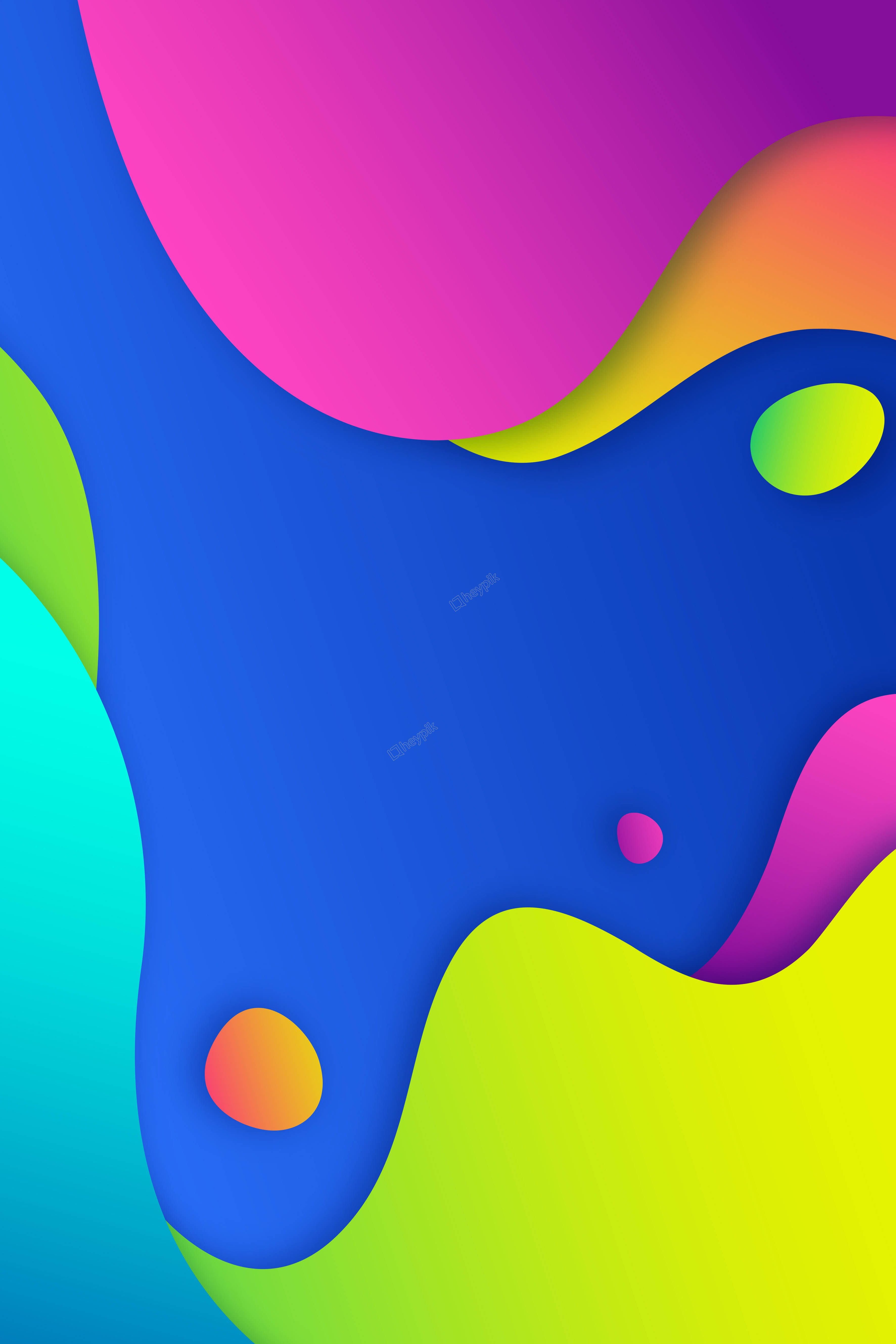 Liquid Color Flow Abstract Background Hatterek