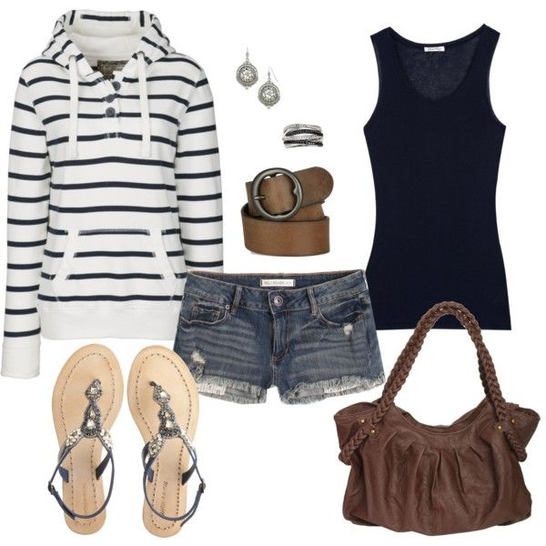 summer nights, created by mamie2shoes on Polyvore