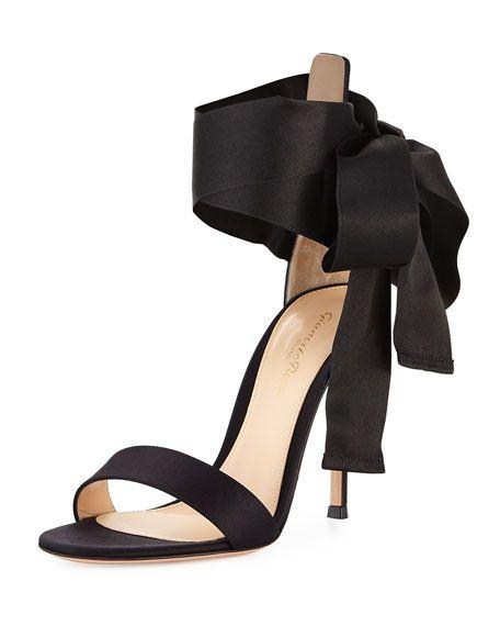 df544f2276e1 GIANVITO ROSSI Satin Ankle-Tie D Orsay Sandal