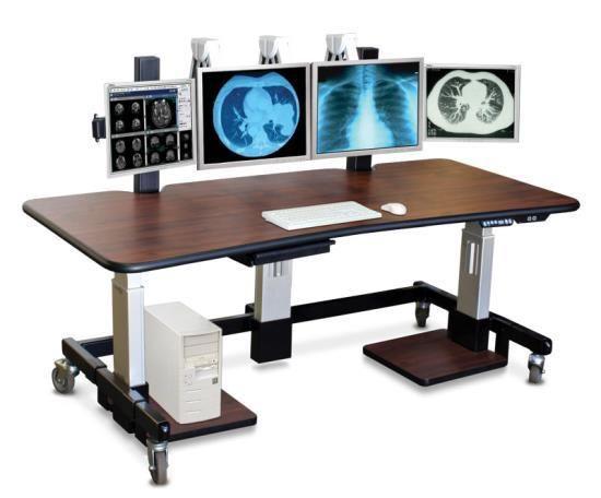 Bon Standing Desk With Multi Monitor Mounts