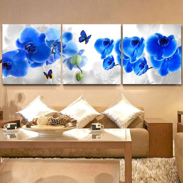 Decoraci n con flores y mariposas para sala by - Decoraciones pinturas interiores ...