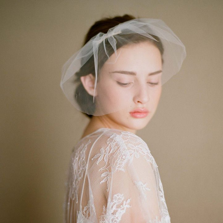 White Black Tulle Face Veil Wedding Accessories Bridal Birdcage Veils Short Hot