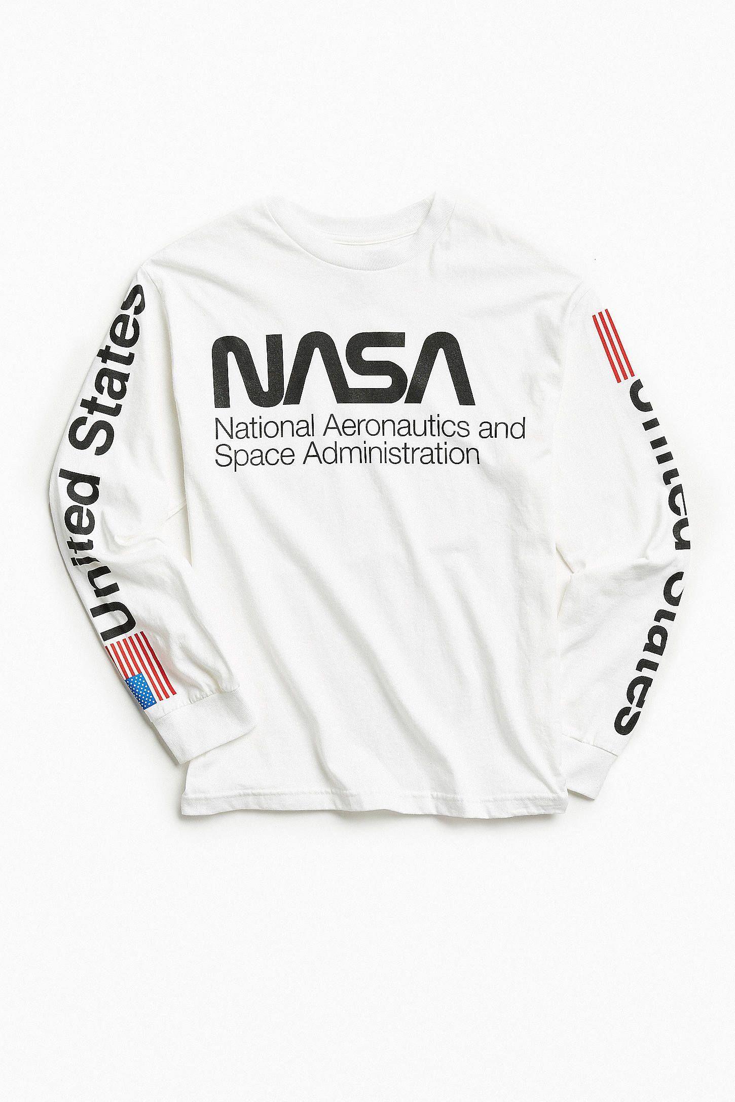 55ce3026609725 Slide View  1  NASA Worm Logo Long Sleeve Tee  mensfashionideas ...