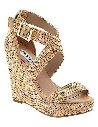 See this and similar Steve Madden sandals - These Haywire espadrille wedge  sandals from Steve Madden are a summer must-have. Features a crossover  ankle ...