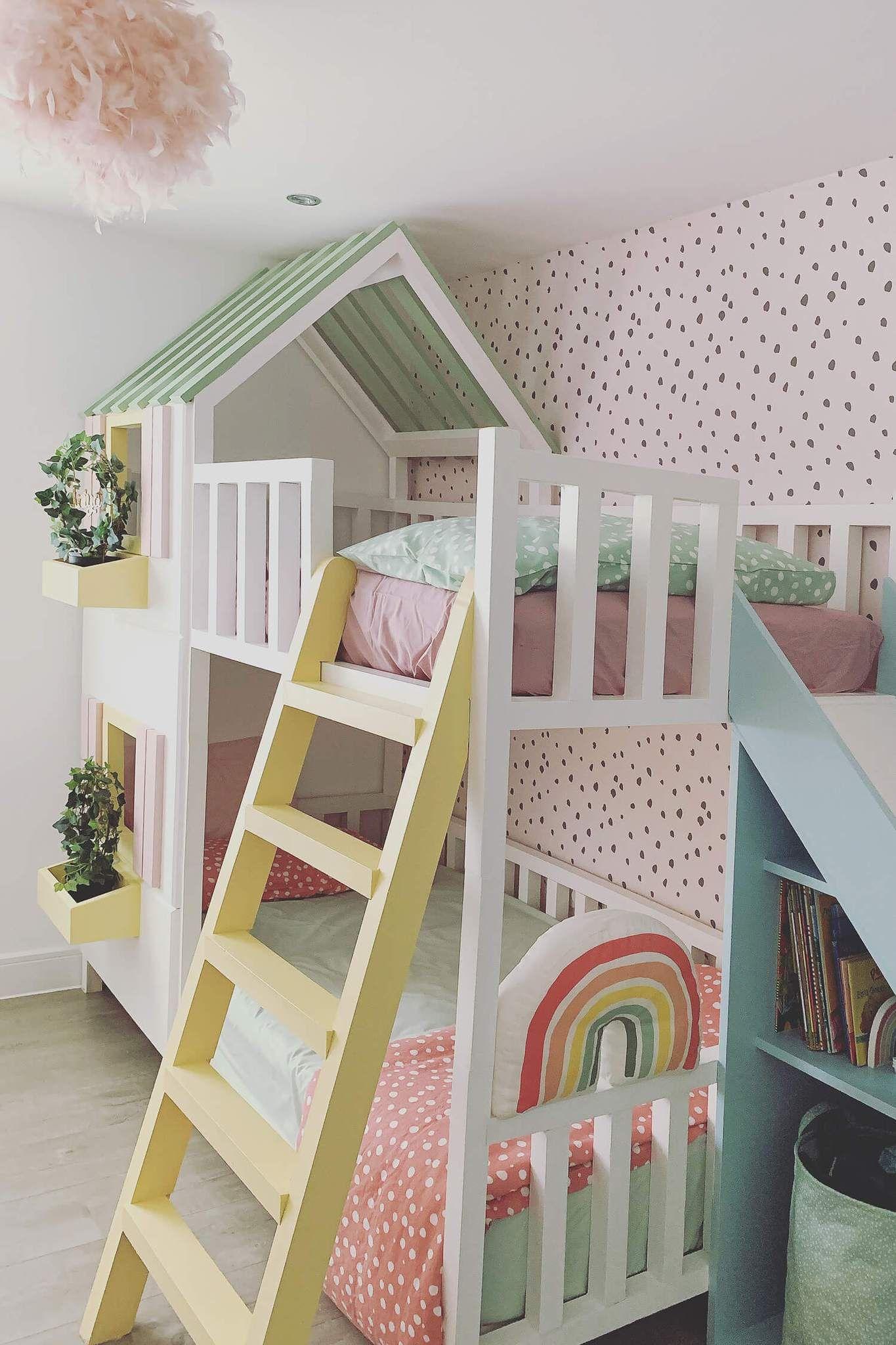 Shared Girl's Rainbow Room Interior Inspiration   Girls ...