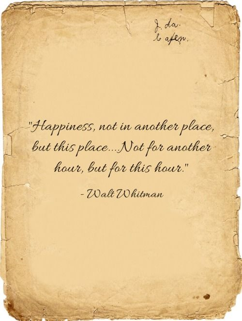 Happiness Not In Another Place But His Place Not For Another Hour