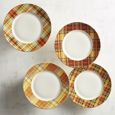 Our dinner plates give you both. Match with our Harvest Plaid Salad Plates or mix with any of our solid white dinnerware to create a fall look ... & Are you mad for plaid? How about porcelain? Our dinner plates give ...