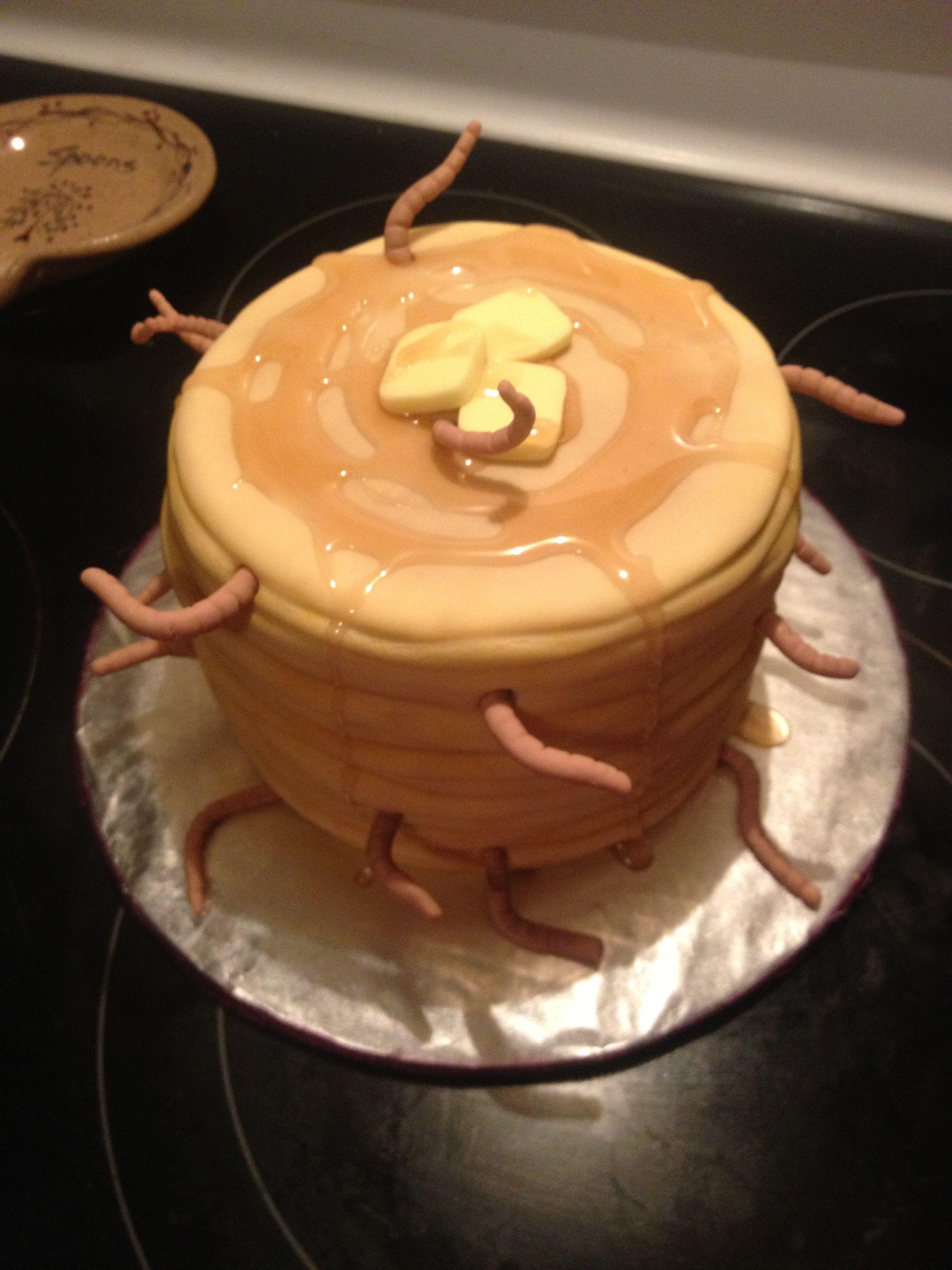 Hotel Transylvania Mavis' 118th Birthday Pancake Cake