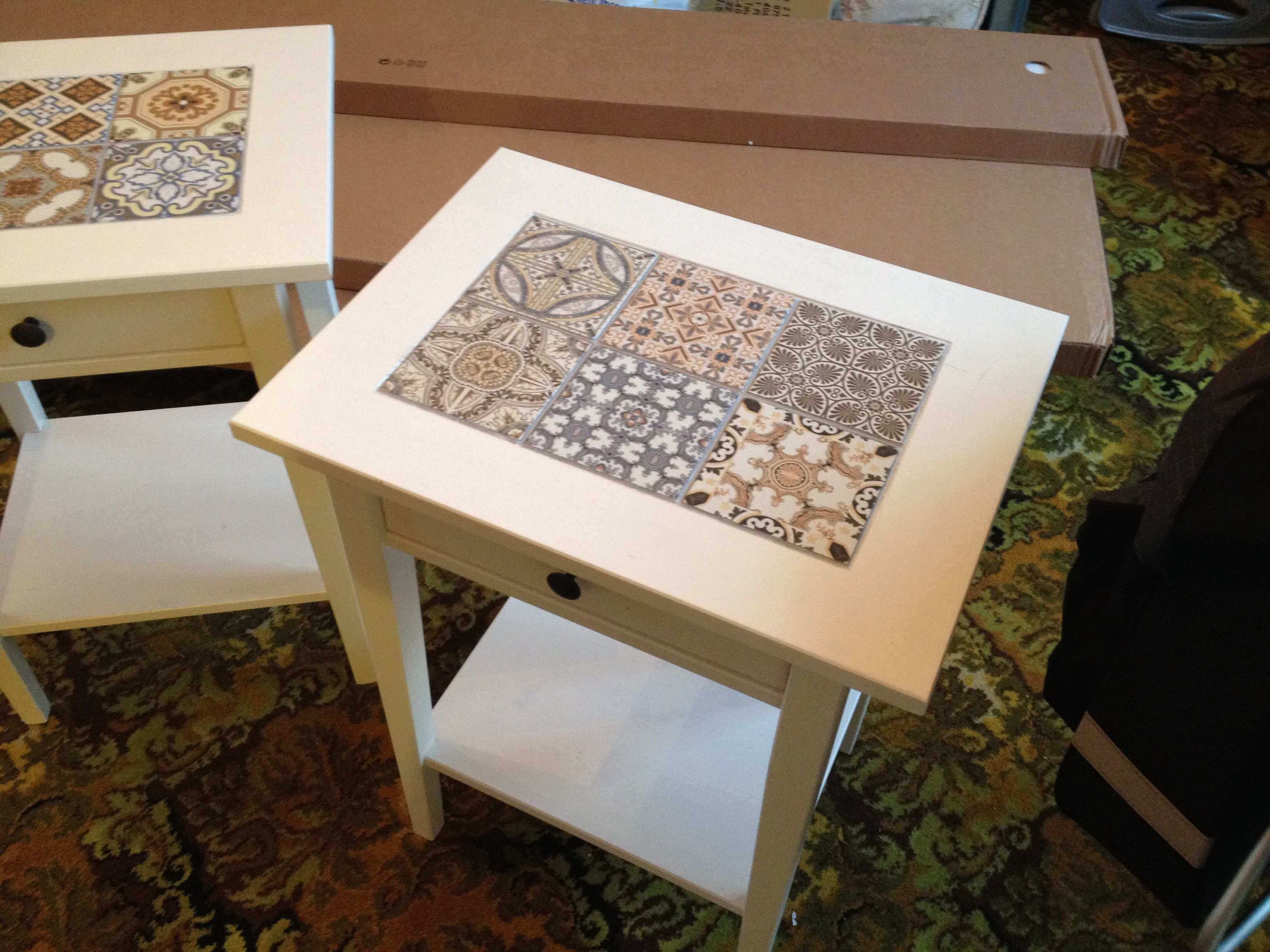 Escape The Bathroom Hacked ikea hack - white hemnes bedside table given a colour lift using