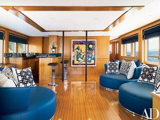Joanne De Guardiola Designs A Classic Yacht Home Theater Setup