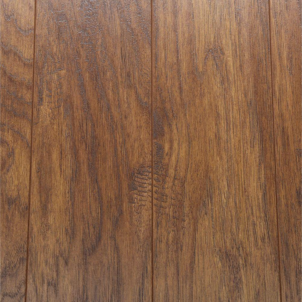Home Decorators Collection Hand Scraped Light Hickory 12 Mm Thick X 5 9 32 In Wide X 47 17 32 In Laminate Flooring Wood Floors Wide Plank Rustic Wood Floors