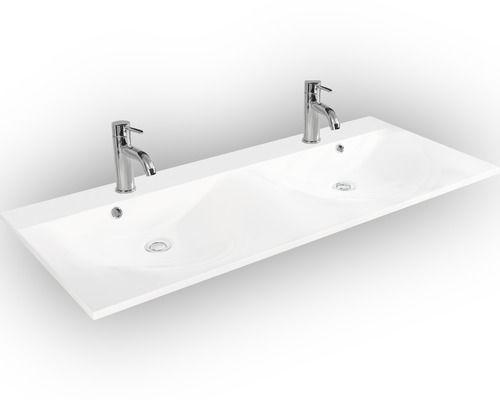 Doppel-Möbel-Waschtisch Fackelmann Como weiß 120x50 cm