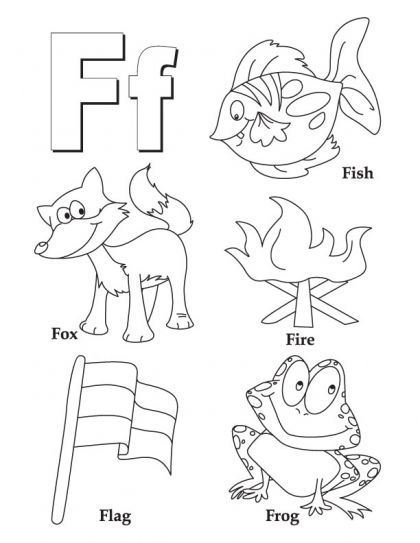my a to z coloring book letter f coloring page - Preschool Coloring Book