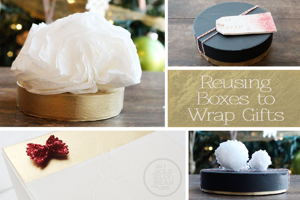 Creative Gift Wrapping, Reusing & Recycling Boxes, via www.thegoldjellybean.com